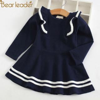 Đầm chữ A bèo nhún thời trang xuân thu cho bé gái AZ1747