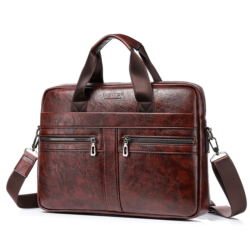 Túi xách da đựng Laptop thời trang công sở cho nam 14& 39;