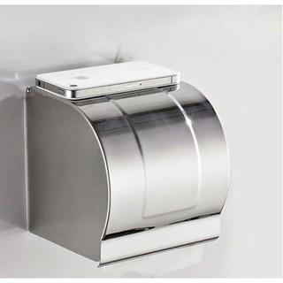 Hộp giấy vệ sinh inox304-LG01 (mầu trắng bạc)
