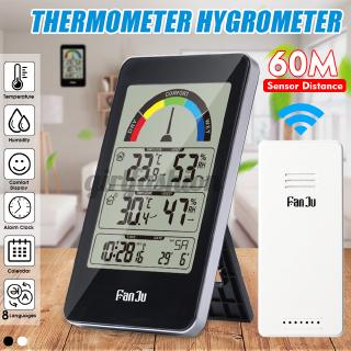 Digital LCD Thermometer Hygrometer Weather Station Wireless Indoor Outdoor Forecast Sensor Clock Comfort Indication