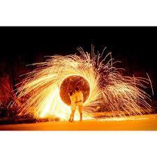 Bùi Nhùi Thép bản dài 80cm rộng 10cm nhiều tia lửa mic