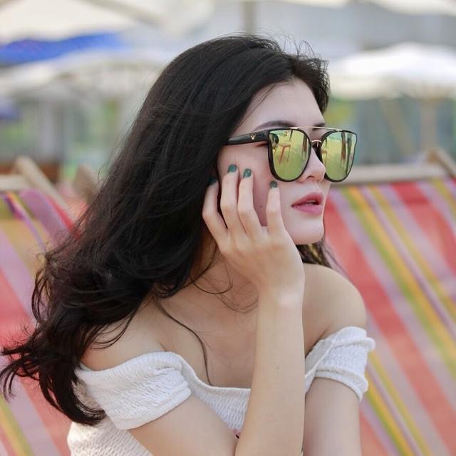 Kính Râm Chữ V Hotgirl, Kính Tráng Gương Đi Biển