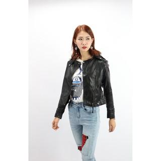 [Tự chụp] Áo khoác da nữ MaxMaLa tag 068, hàng QC loại 1 da mềm 3 mầu cực đẹp