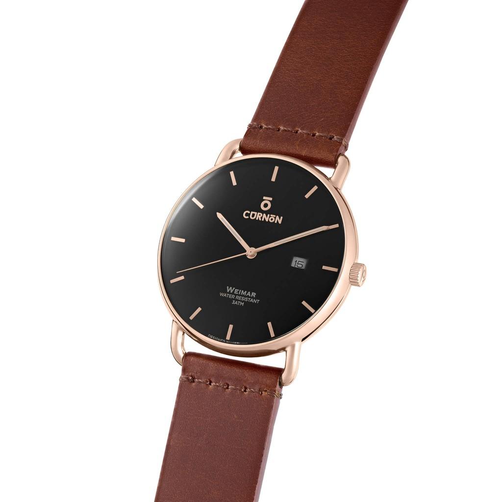 Đồng hồ nam Curnon Weimar Herbert mặt kính Sapphire - Hàng chính hãng