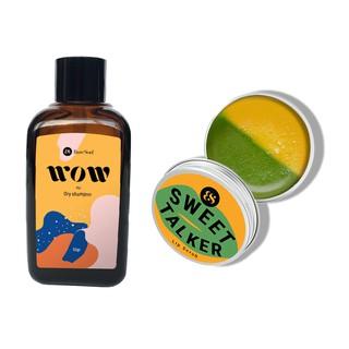 Combo dầu gội khô BareSoul Wow Dry Shampoo 50g Son tẩy tế bào chết môi Sweet Talker Lip Scrub 20g