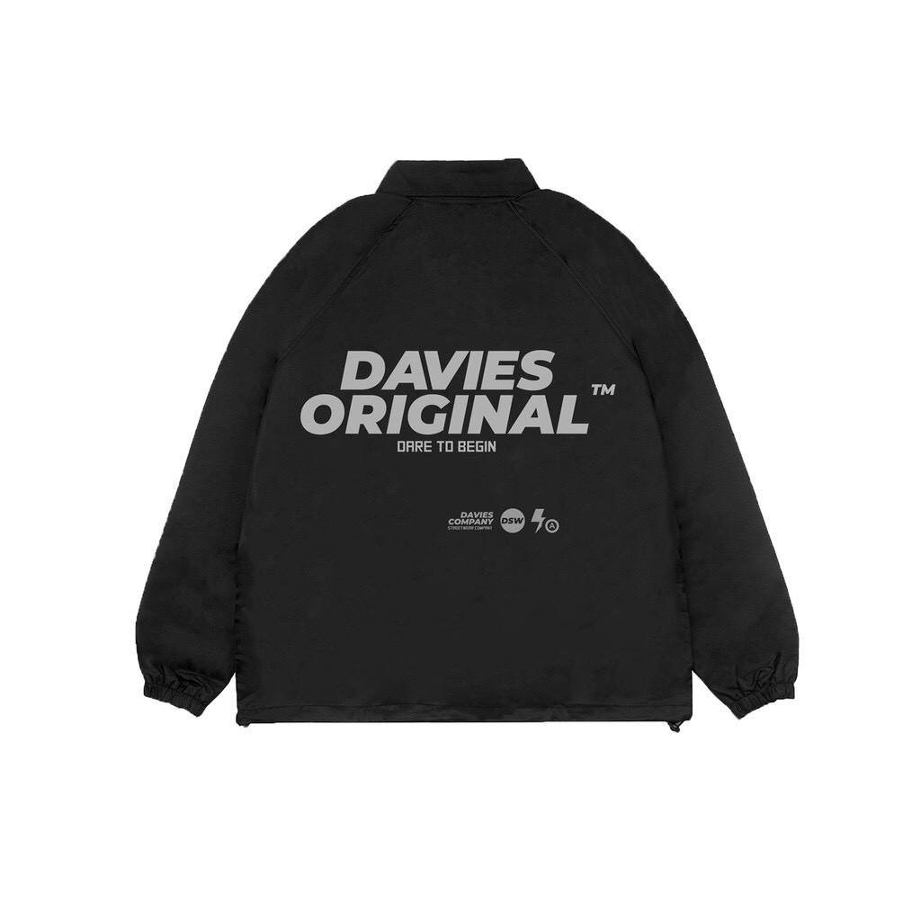 Áo khoác DAVIES ORIGINAL chất dù 2 lớp phản quang form rộng unisex DSW Jacket Original Reflective