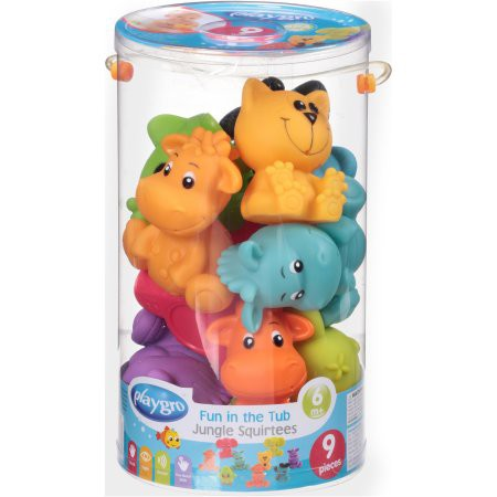 Playgro Fun In The Tub Jungle Squirtees 9 Pack
