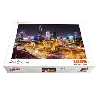 Bộ tranh xếp hình cao cấp 1000 mảnh ghép – Sài Gòn Ơi