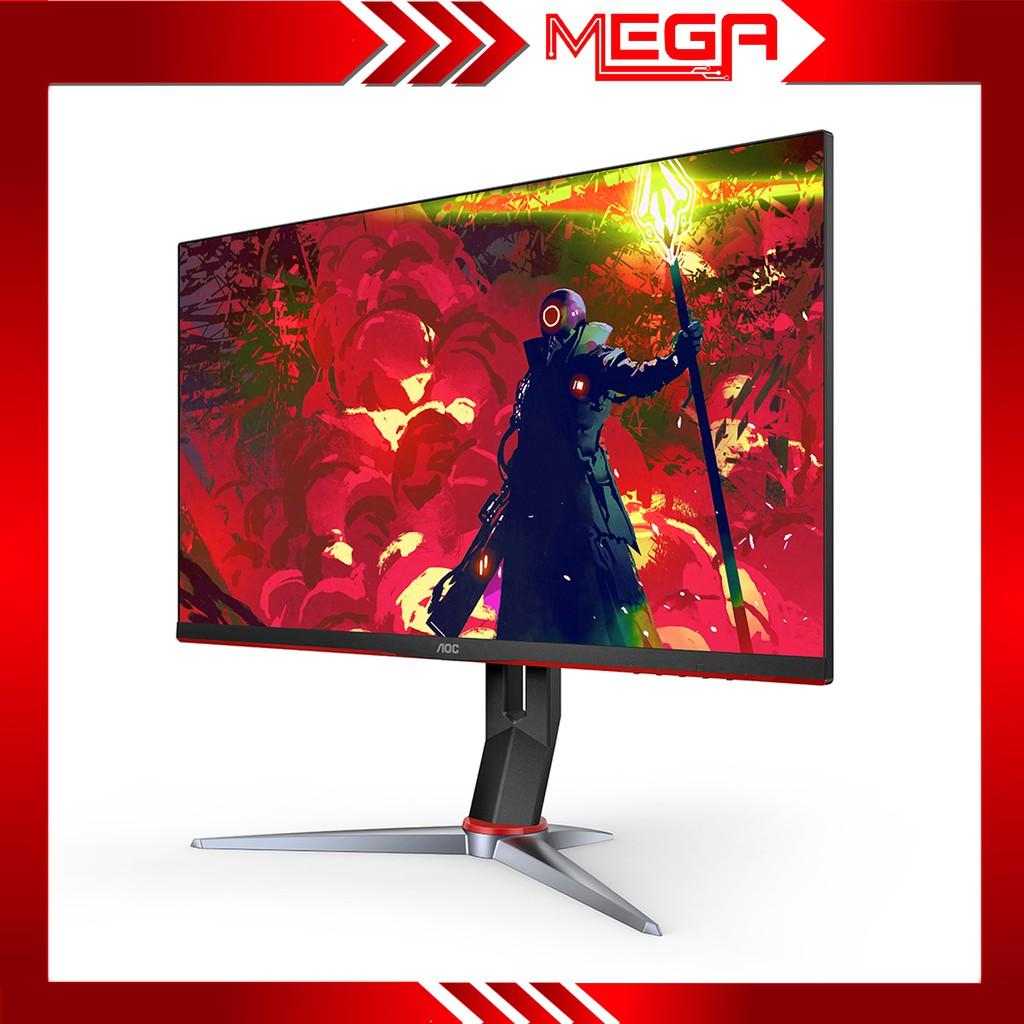 Màn hình gaming LCD AOC 24G2 23.8 inch IPS FreeSync, 1ms, 144Hz, HDMI DP có thể xoay được 90 độ - Hàng chính hãng