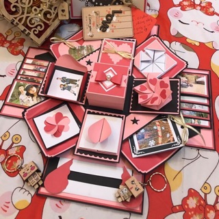 Box đỏ nhạt- hồng nhạt