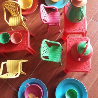 🌺Bộ đồ chơi bàn ghế tiếp khách, ăn uống cho bé yêu