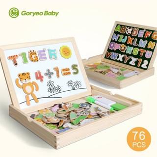 Bảng từ 2 mặt Goryeo Baby Hàn Quốc chủ đề chữ và số