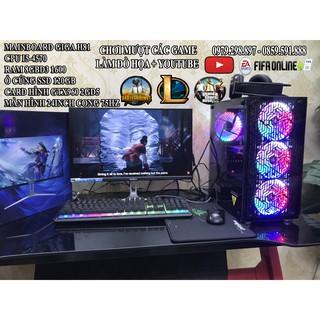 bộ máy tính chơi game nặng , màn hình 24inch cong mới giá rẻ