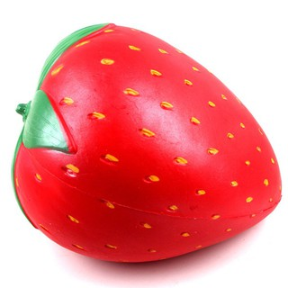 Lovely Extra Large Strawberry Silicone Slow Rising Squishy Squeeze Toy Stress