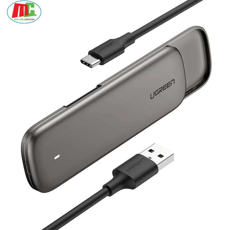Bảng giá Box Đựng Ổ Cứng SSD M2 Sata USB 3.0 Ugreen 60355 - Hàng Phong Vũ