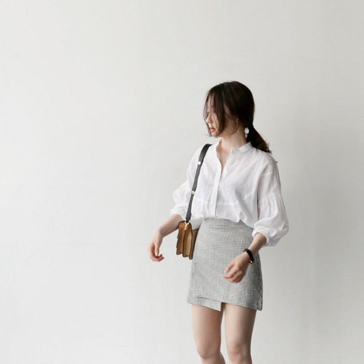 Áo sơ mi trắng tay lỡ nữ tính -ASMN19.0009 | SaleOff247