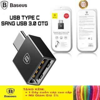 Đầu Chuyển OTG USB Type-C Sang USB Baseus LV106 Cao Cấp Chính Hãng