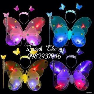 Bộ cánh bướm kép + bờm + gậy thiên thần