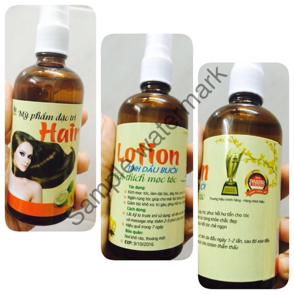 ( CHÍNH HÃNG ) Tinh dầu bưởi Kích thích mọc tóc Hair Lotion 100ml Trị rụng tóc Dưỡng mềm mượt