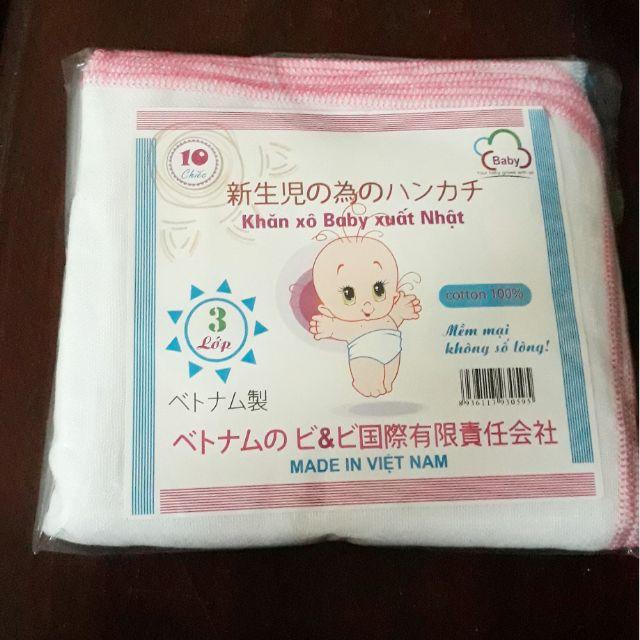 Khăn sữa, khăn xô 3 lớp ( 10 chiếc) ( sỉ, lẻ) - 9976073 , 348011750 , 322_348011750 , 35000 , Khan-sua-khan-xo-3-lop-10-chiec-si-le-322_348011750 , shopee.vn , Khăn sữa, khăn xô 3 lớp ( 10 chiếc) ( sỉ, lẻ)