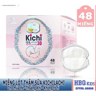 Miếng Lót Thấm Sữa Kichilachi Chính Hãng,Siêu Mỏng, Siêu Thấm, Siêu Mịn,Siêu Dính, Hộp 48 Miếng – HBQ Kids