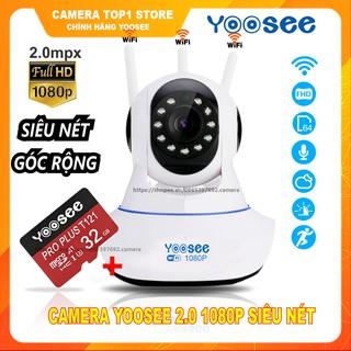 Camera Ip YooSee 3 Râu Full HD 2.0Mpx 1080p Tiếng Việt Mới