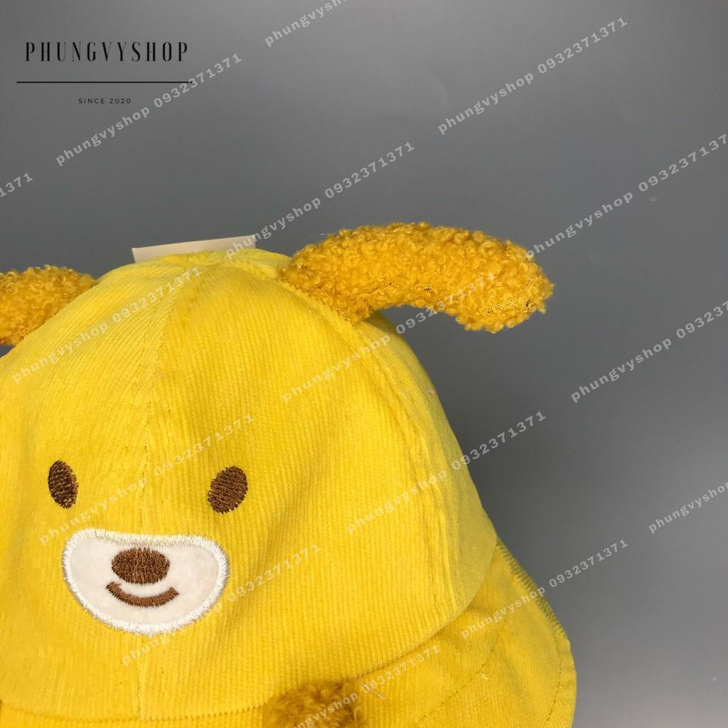 (BÉ khoảng <18 tháng-vòng đầu48cm) Mũ chống dịch bắn, mũ cản bụi bạn cún dễ thương- nón cho bé