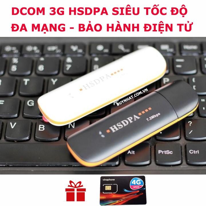 DCOM 3G HSDPA, ĐA MẠNG, SIÊU TỐC, ĐA MẠNG,TẶNG SIM 4G VINA Giá chỉ 195.000₫