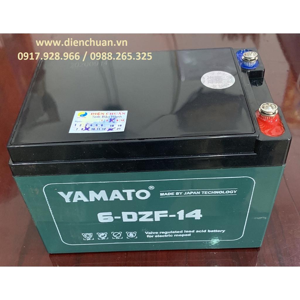 Một bộ 4 bình xe đạp điện Yamato 12V 14Ah