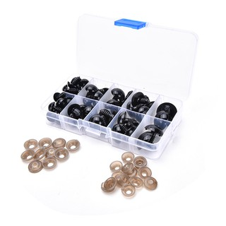HEL❤ 52 Pcs/Box Plastic Black Eyes for Children Bear Doll Animal Puppets