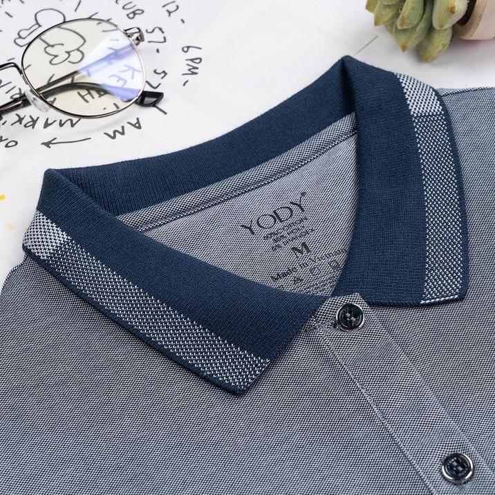 Mặc gì đẹp: Thời trang với Áo thun polo nữ YODY mắt chim ngắn tay cotton có cổ cao cấp thoáng mát APN3340