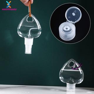(Hàng Mới Về) Chai Nhựa 50ml Đựng Gel Rửa Tay Dạng Xịt Khử Trùng Thiết Kế Trái Tim Kèm Móc Treo Tiện Dụng thumbnail