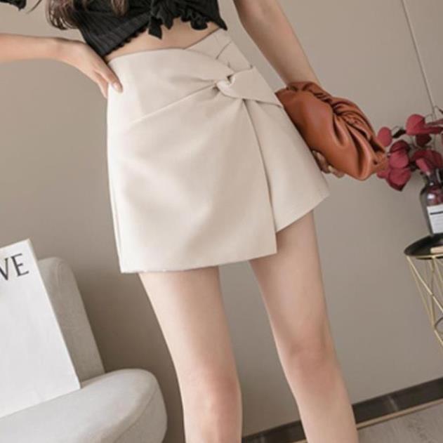 Chân váy A ngắn cạp cao tôn dáng kiểu skirt xoắn eo chất tuyết mưa cực đẹp mặc lên siêu xinh thời trang BANAMO 6310