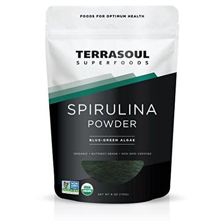 Bột tảo Spirulina hay còn được gọi là tảo xoắn nguyên chất 100% từ thiên nhiên.