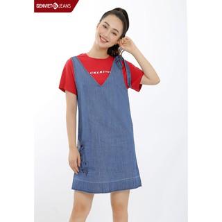 Đầm yếm Jeans Nữ TY523J508 GENVIET thumbnail
