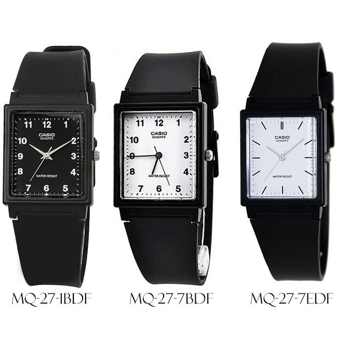Đồng hồ unisex dây nhựa Casio chính hãng Anh Khuê MQ-27 (3 màu sắc)