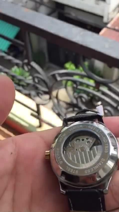 Đồng hồ nam automatic dây da bọc su cực bền hiệu tevise chính hãng (tặng kèm hộp)
