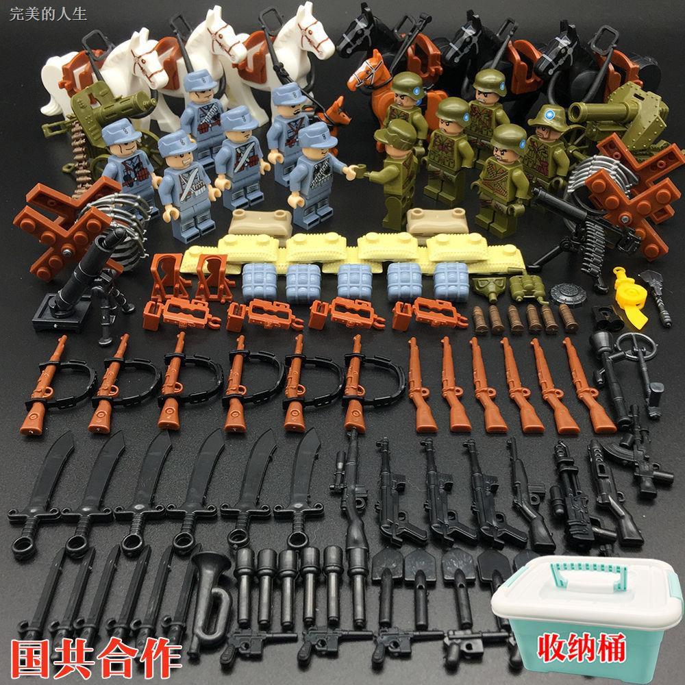 Bộ đồ chơi lắp ráp lego phong cách quân đội nhật bản chất lượng cao