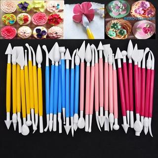 Set 8 Bút Hai Đầu Bằng Nhựa Dùng Điêu Khắc Kẹo Đường Trang Trí Bánh
