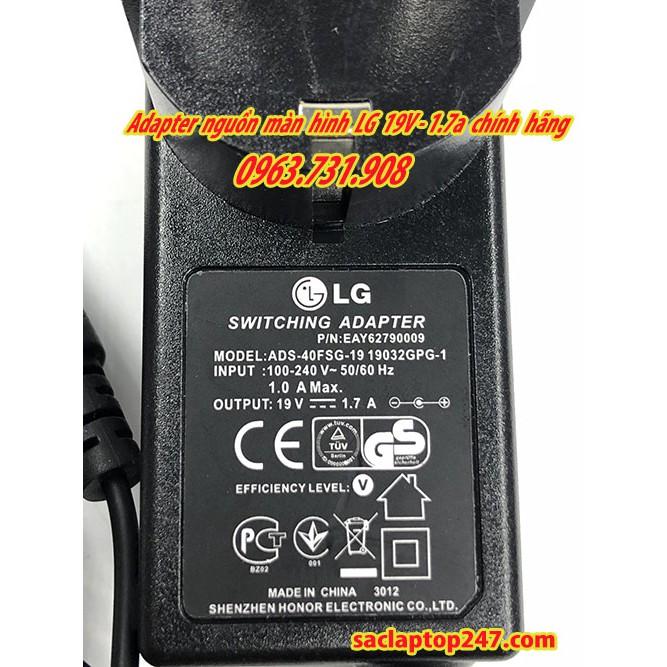 Adapter nguồn mành hình LG 19V 1.7A chính hãng