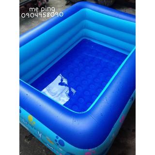 Combo bể bơi 1m8 + phao cổ + bơm điện