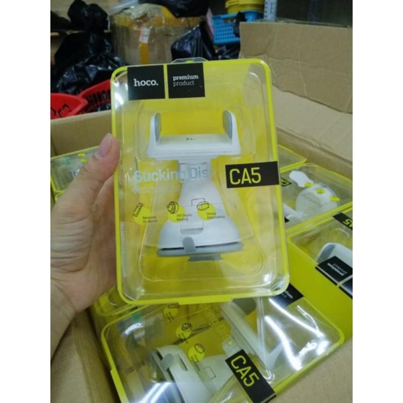 Kẹp điện thoại hoco CA5 gắn oto xoay 360 độ, có thể hút trên kính và hút trên taplo - Hàng chính hãng