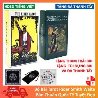 [Mã TOYFSS9 hoàn 20K xu đơn 50K] Bài Tarot Rider Smith / Waite Smith Tặng Túi Nhung, Thảm Trải Bài Và Đá Thanh Tẩy