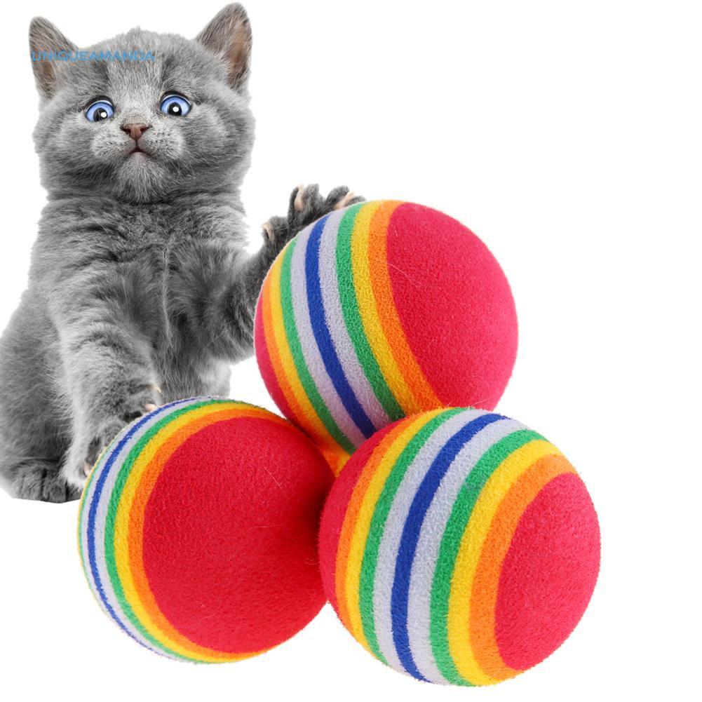 Bộ 10 quả banh tennis mềm thiết kế chơi đùa cho mèo tiện lợi
