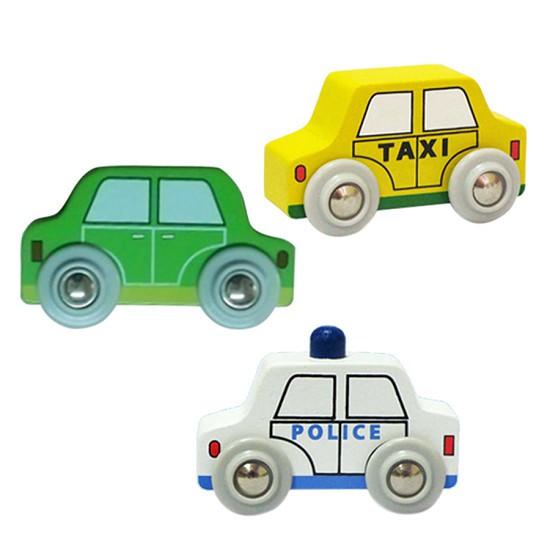 Combo xe sưu tập 1 (Xe cảnh sát màu trắng, xe taxi vàng, xe taxi xanh lá) - Colligo 11210A1