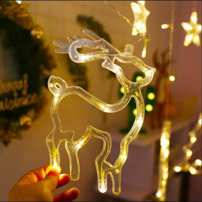 Dây Đèn Led Hình Ngôi Sao Năm Cánh Trang Trí Giáng Sinh