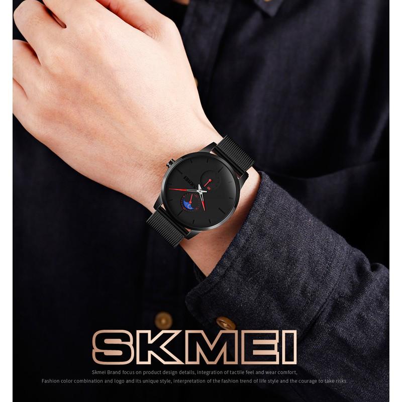 Đồng Hồ SKMEI 9208 Chuyển Động Thạch Anh Chống Nước Chất Liệu Thép Không Gỉ