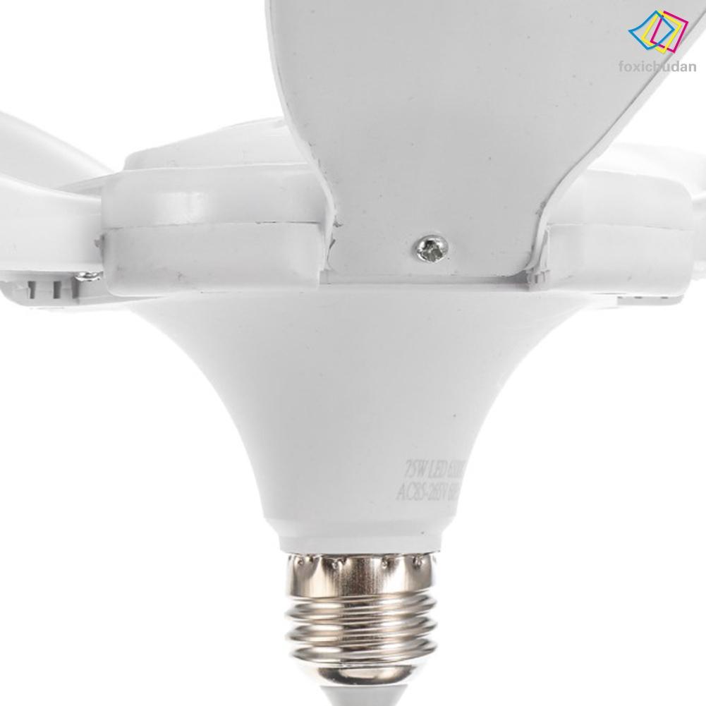 FCD☆ LED Garage Light Bulbs Deformable 5-Blades Ceiling Fixture Light Foldable Workshop Lamp