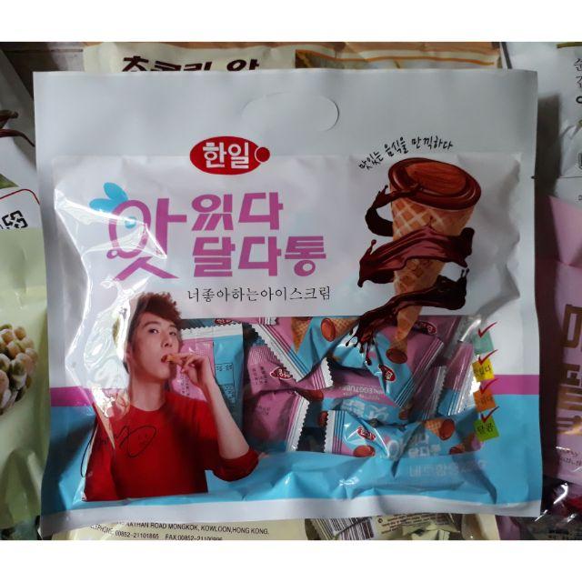 Bánh ốc quế socola hạnh nhân Hàn Quốc