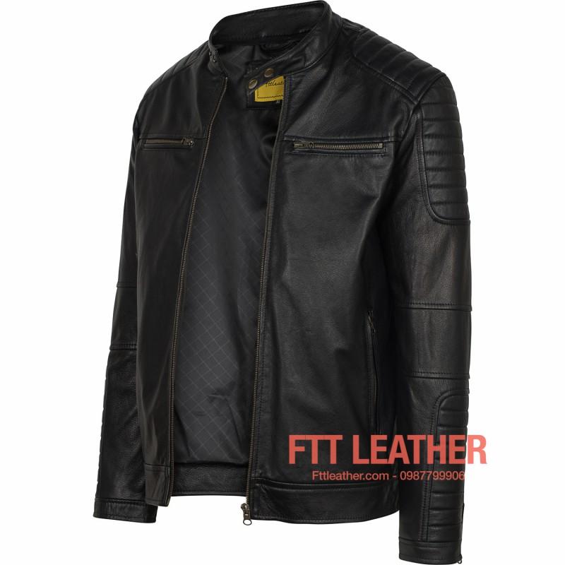 Áo da nam FTT Leather - áo da xịn